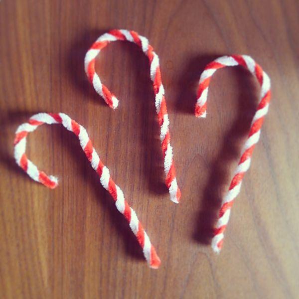 モールで作るキャンディーケインの作り方 クリスマス ストライプ キャンディー Candy Cane
