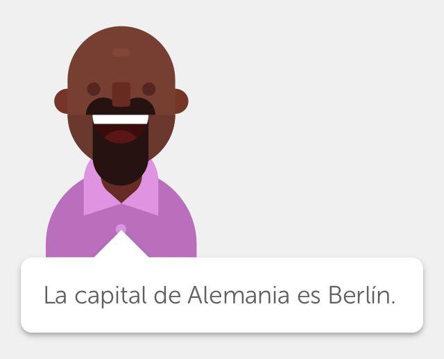 """Agora eu sei dizer """"La capital DE alemanha...""""  ESTUDAR MORFOLOGIA ESPANHOL"""