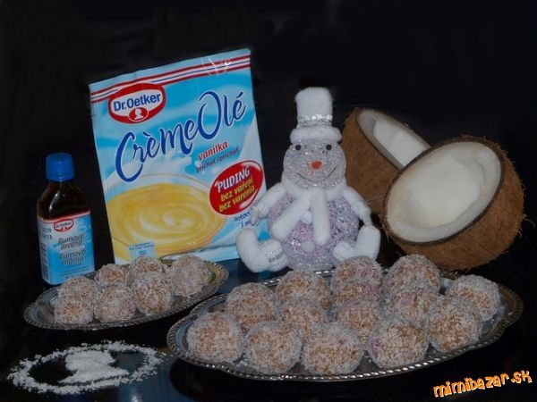 KOKOSOVÉ GUĽKY: Desserts Sweets, Kokosové Guľky
