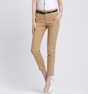 2018 Capris Pants Ladies Office Work Wear Pencil Pants Ankle Length Trousers Plu…