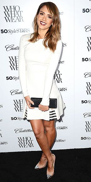JESSICA ALBA If you're attending the 50 Most Fashionable Women of 2013 event in West Hollywood, you better look, you know, fashionable. Jess...