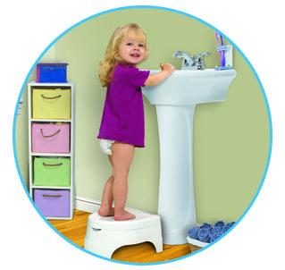 Summer infant All in one potty 3 ü 1 arada lazımlık modelini aynı zamanda basamak olarak kullanabiliyorsunuz.