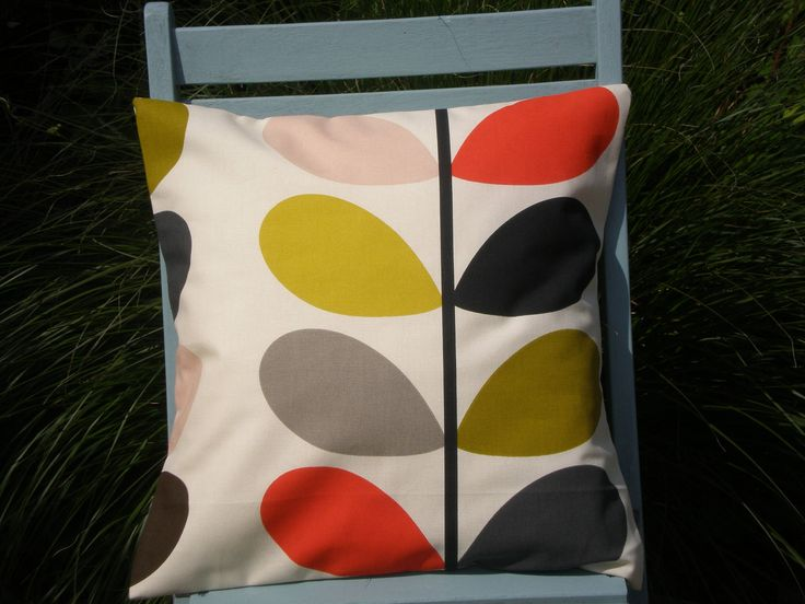 Orla Kiely Fabric 'Multi Stem' Cushion Cover - Tomato by CoverAndShade on Etsy