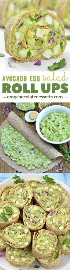 HEALTHY Avocado Egg Salad Roll Ups is simple recipe with only a few ingredients. This is perfect crowd pleaser appetizers for summer picnics and parties or easy lunch or snack recipe for your busy days!