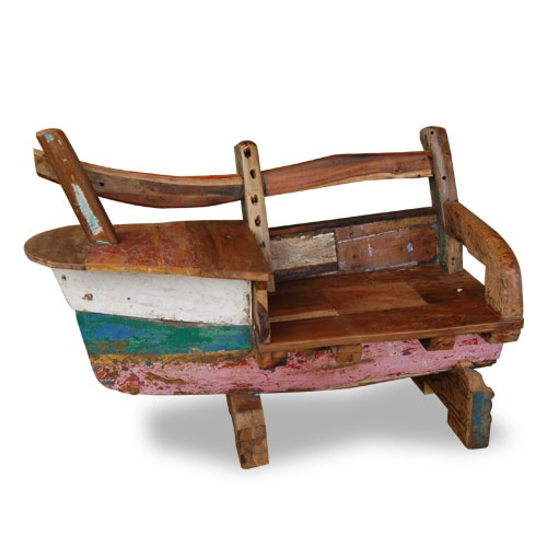 Boat Sofa Made From Reclaimed Boat Timber Nautical