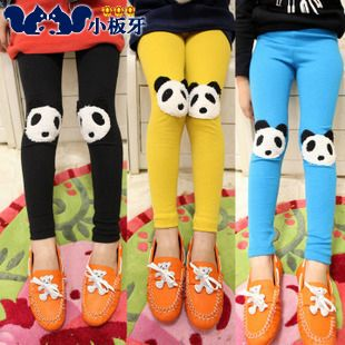 2013 autumn korean version of the new childrens clothing baby child girl models panda feet long pants leggings pants 5162 only $6.76USD a Piece