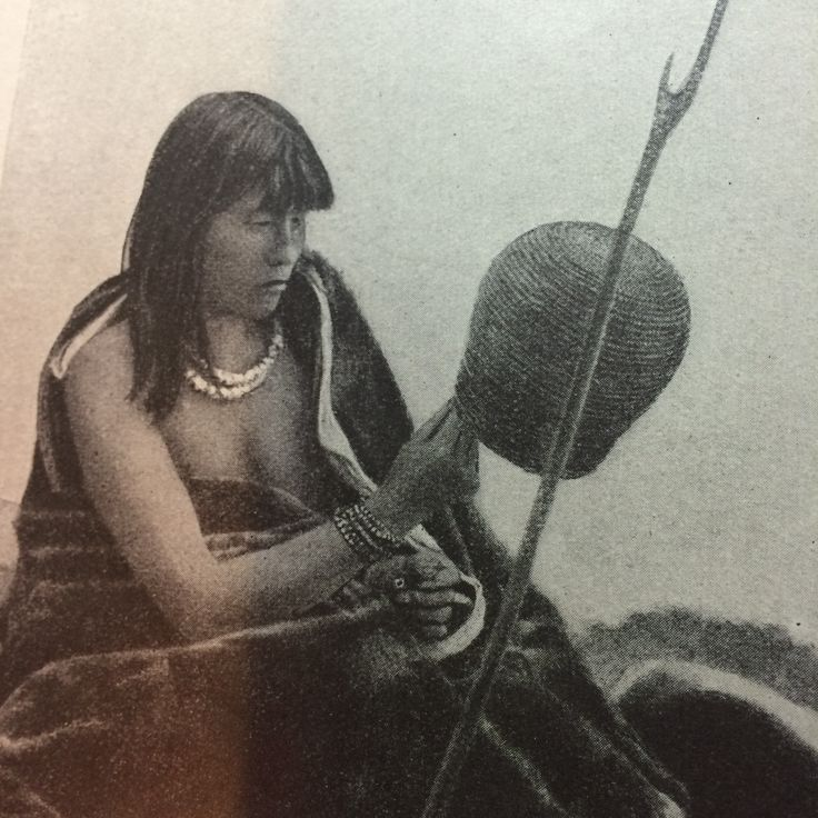 Yahgan Indian Woman. Picture from the book, People of all Nations.