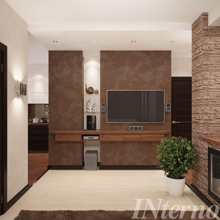 Коридор - гостиная - кухня