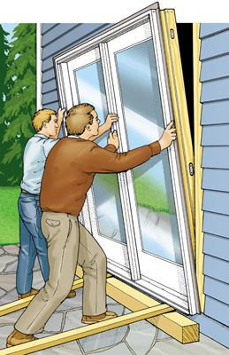 Replacing A Patio Door Diy Projects Pinterest Doors And Home Improvement