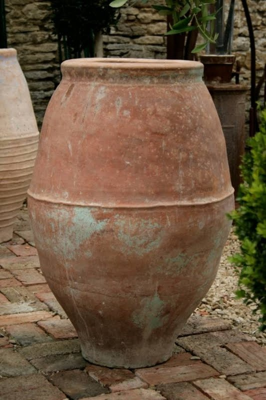 Spanish Terracotta Water Jar Early 20th Century Patio And Outdoor Spaces Ceramic Flower