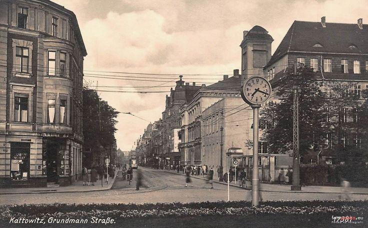 ul. 3 Maja (Grundmannstrasse), Katowice - 1942 rok, stare zdjęcia