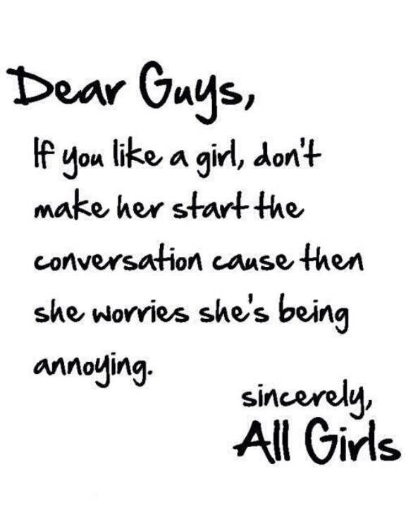 Dear Girls if we like you we probably will try really hard to get your best friend to like us first... hey in love and war you need as many allies to aid in winning you over. (plus they can vouch that we are not jerks)