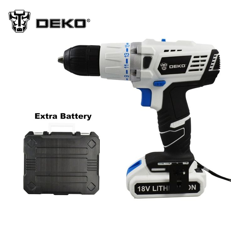 109.00$  Watch now - http://ali2x2.worldwells.pw/go.php?t=32687845313 - DEKO 18V DC New Design Mobile Power Supply Lithium Battery Cordless Impact  Drill  With Extra Battery pack and BMC 109.00$