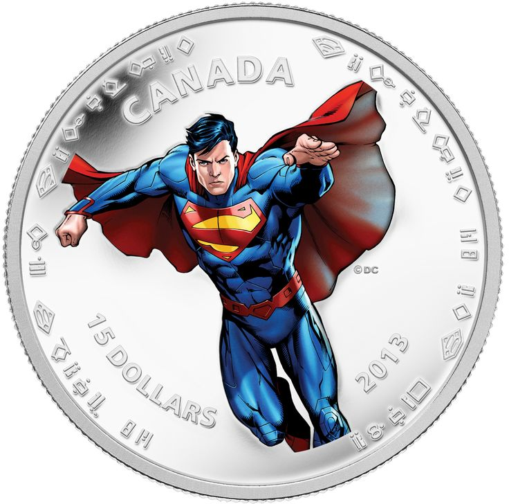 1/2 oz $15 Fine Silver Coin - Modern Day Superman™ (2013). On September 9, 2013, the Mint unveiled seven new collector coins in celebration of the 75th anniversary of Superman.
