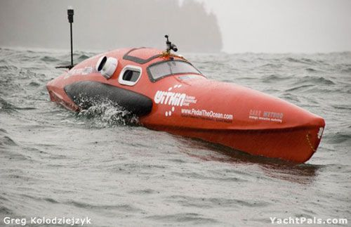 Building A Human Powered Ocean Crossing Boat Yachtpals Com Pedal It Boat Power Boats