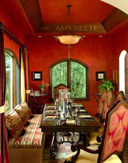 Mediterranean Dining Room Flooring Design Pictures Remodel Decor And Ideas