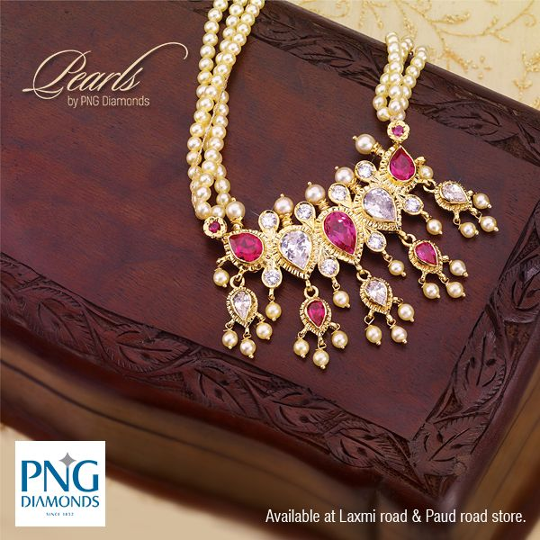 Flaunt this traditional tanmani in pink, which has its roots in #pune. Rightfully called the Puneri tanmani, this traditional neck piece is a must have. Check our collection at our stores on Laxmi Road and Paud road.