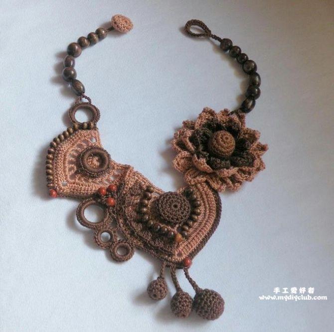 Unique crochet necklaces