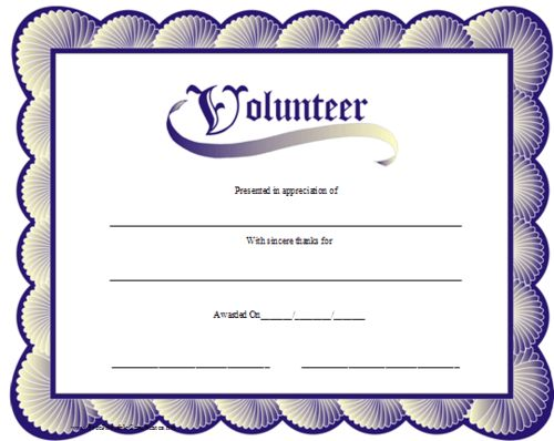 259 best Girl Scout Certificates printable images on Pinterest - sample volunteer certificate template