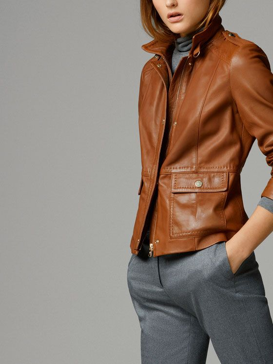 Leather Jacket - Massimo Dutti                                                                                                                                                                                 Más