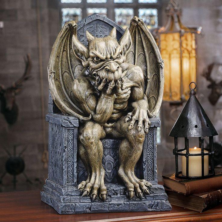 Design Toscano Hemlock's Gargoyle Throne Small Statue & Reviews | Wayfair