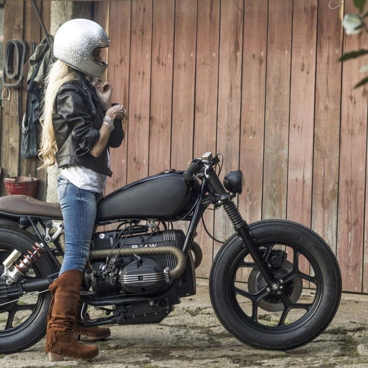 8negro: INDIRA:: BMW R80:: Ton Up Garage.