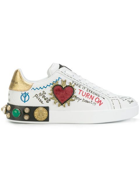 d9950e9df51ad Dolce   Gabbana customised low top sneakers Zapatillas De Niñas