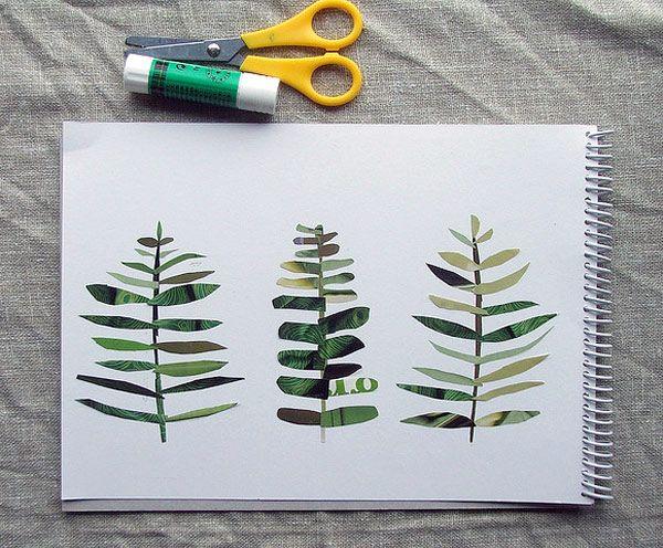 DIY Leaf PrintsDiy Ideas, Leaf Prints, Ideas Leaf, Magazines Collage, Collage Kids, Leaf Collage, Art Projects, Diy Leaf, Diy Collage Ideas
