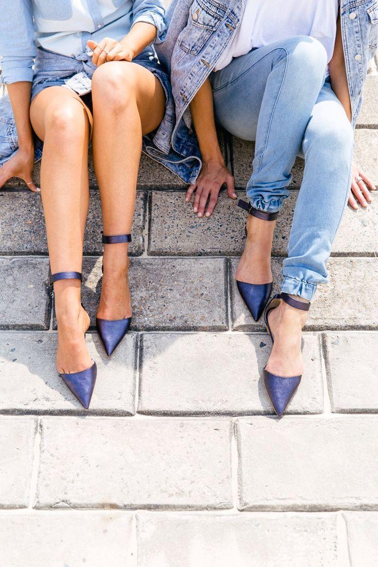 jeans + sapato azul