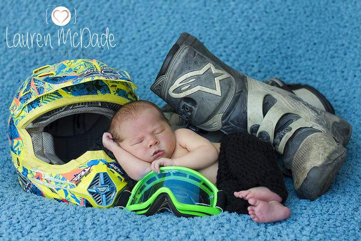 Lauren McDade Photography Newborn Photo Dirtbike