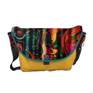 Multicolor Messenger Bag. Magnificent Pattern