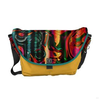 Multicolor Messenger Bag. Magnificent Pattern