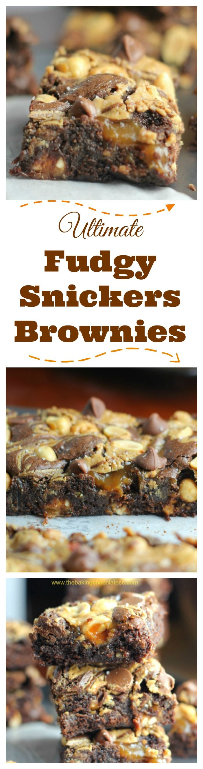 Ultimate Fudgy Snickers Brownies {Pure Indulgence!}