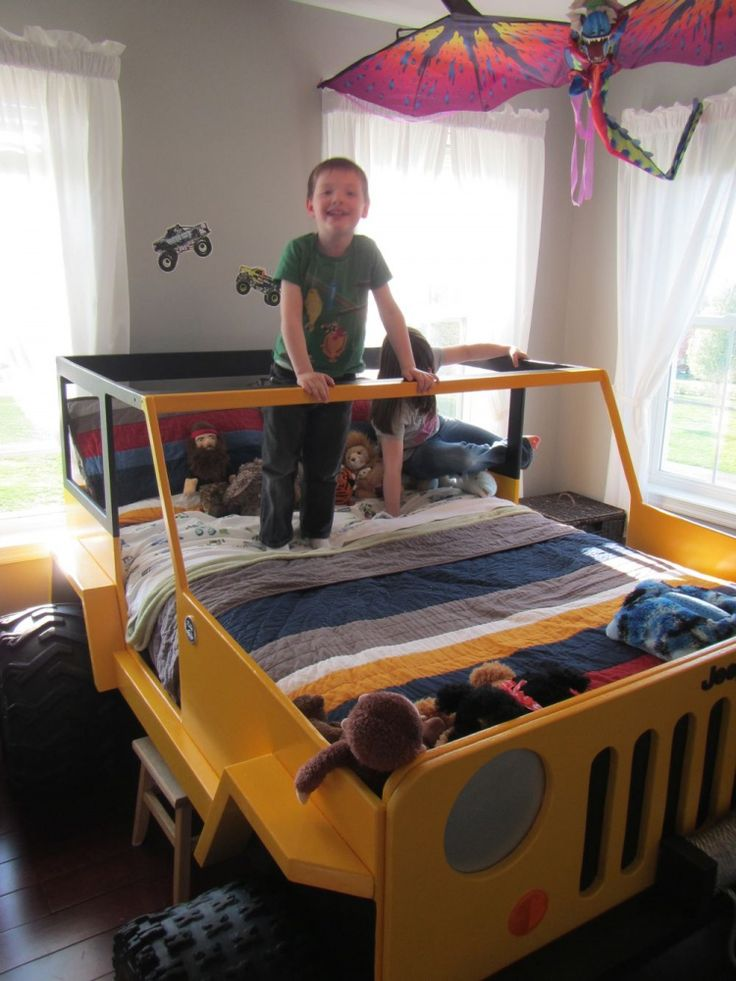 19 best images about jeep bed on pinterest toddler bed for Small bedroom double bed ideas
