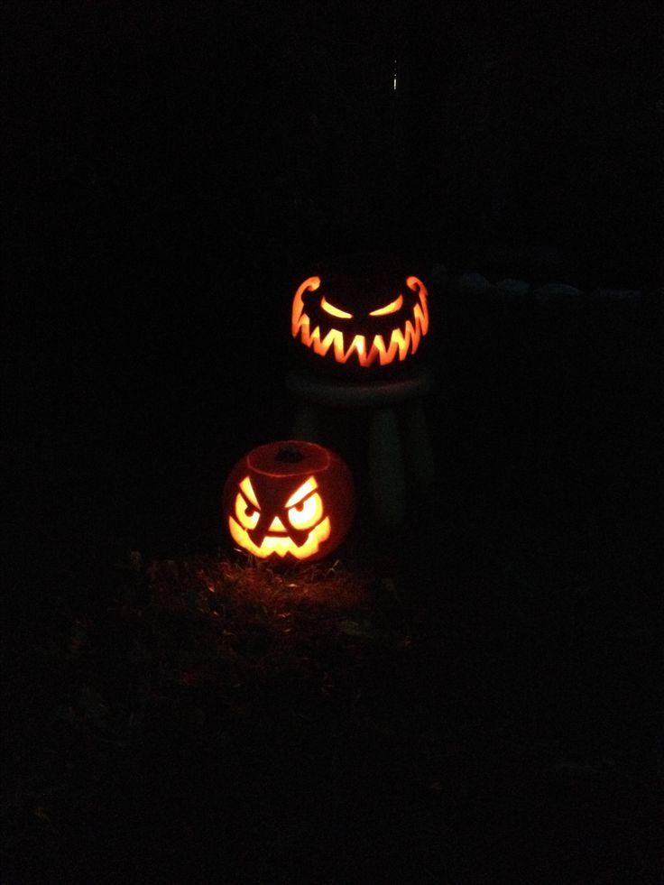Zucche di halloween illuminate