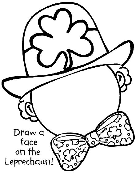 What will your St. Patrick's Day leprechaun look like? Complete the leprechaun with this coloring page!