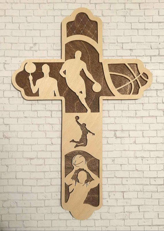 Men's Basketball Cross Boy's Basketball Gift by BriarBeachDesigns