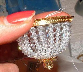 My little miniature world is a big amusement: Swarovski plafondlamp maken