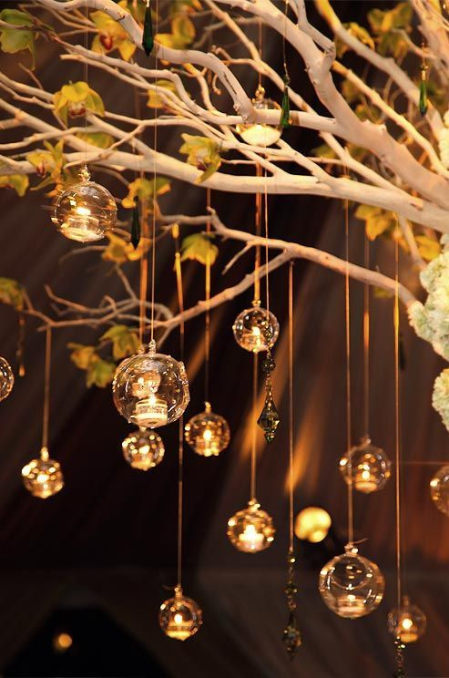 6 Pieces 5 Hanging Bubble Candle Holders Orb candle by wedsource