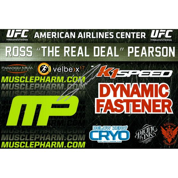 Ross Pearson Ultimate Fighting Championship Fanatics Authentic Autographed 11'' x 17'' UFC 185 Mini Replica Sponsor Banner - $49.99