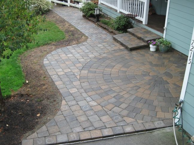 garden walkway in puyallup garden patio with trellis design in bonney