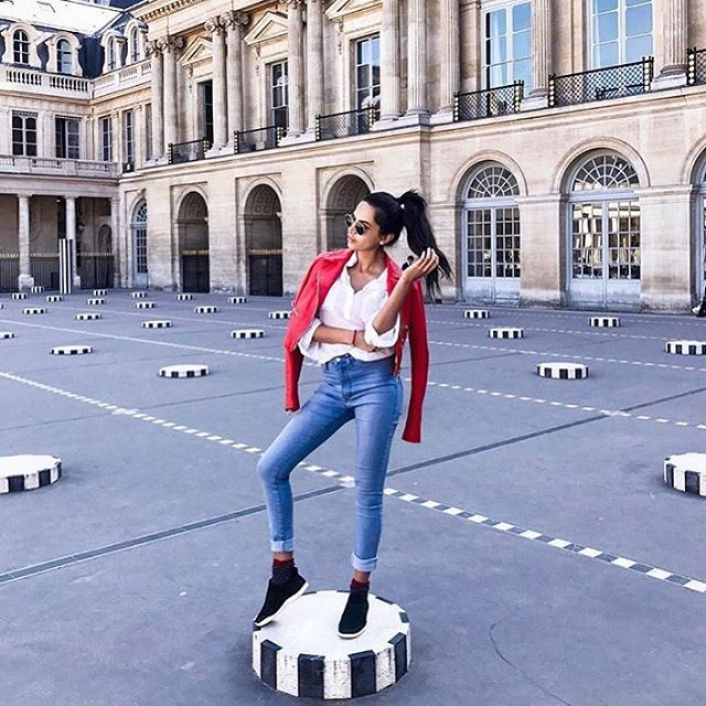 Jet setter Diipa khosla rocking her Crocs UK in Paris