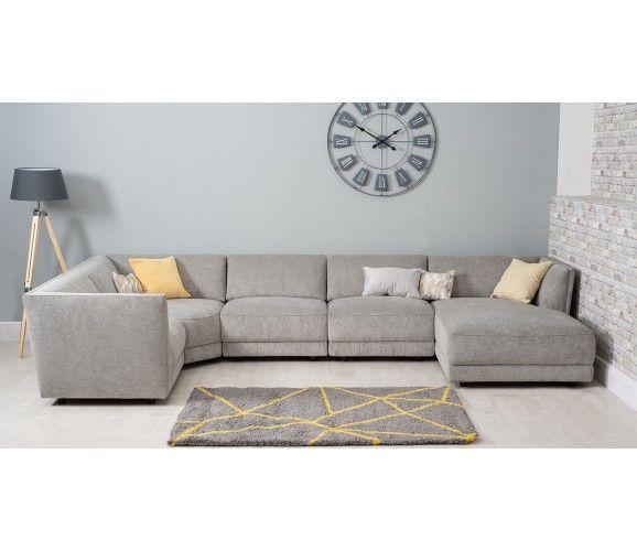Hudson Large U Shaped Sofa Grey U Shaped Sofa Corner Sofa Living Room Layout Corner Sofa Living Room