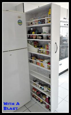 DIY Sliding Pantry - Love this...Must have one!!