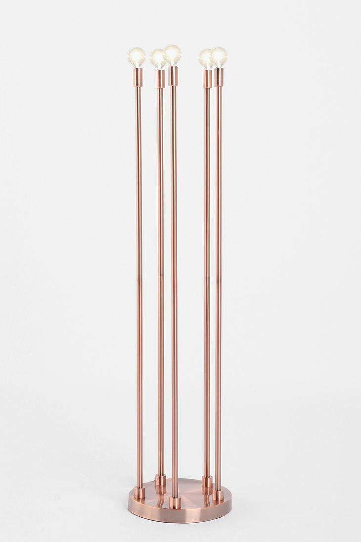 Five-Arm Copper Floor Lamp  #UrbanOutfitters