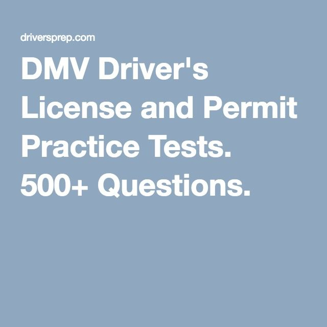 DMV Driver's License and Permit Practice Tests. 500+ Questions.