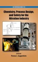"""""""Chemistry, Process Design, and Safety for the Nitration Industry"""" Thomas L. Guggenheim, editor ; sponsored by the ACS Division of Industrial and Engineering Chemistry.  #novetatsfiq This is the third ACS Symposium Series book dealing with nitration, the first two having been published in 1976 and 1996. The nature of this 2013 publication reflects the changes worldwide in process safety management, and geographies of research and manufacturing. #novetatsfiq"""