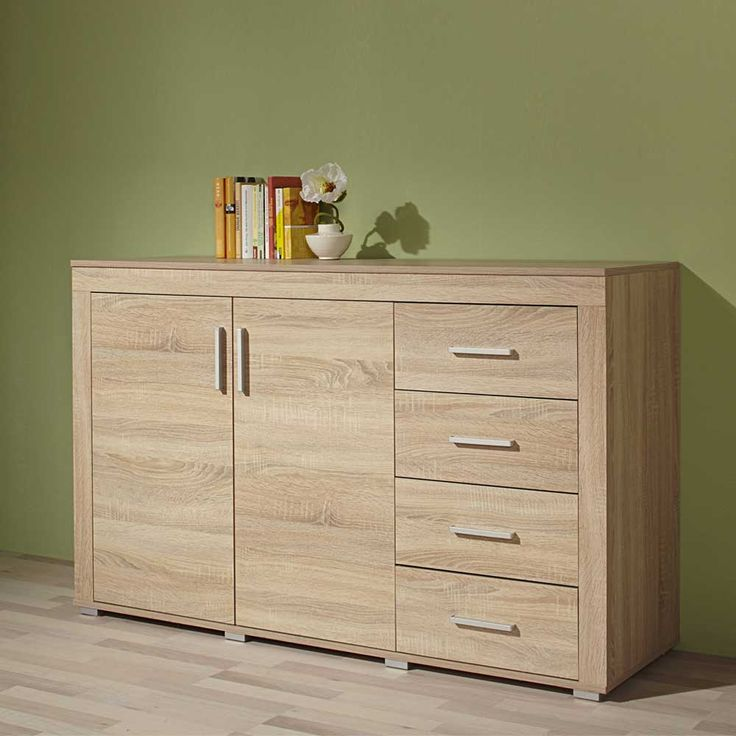anrichte in sonoma eiche schubladen jetzt bestellen unter. Black Bedroom Furniture Sets. Home Design Ideas