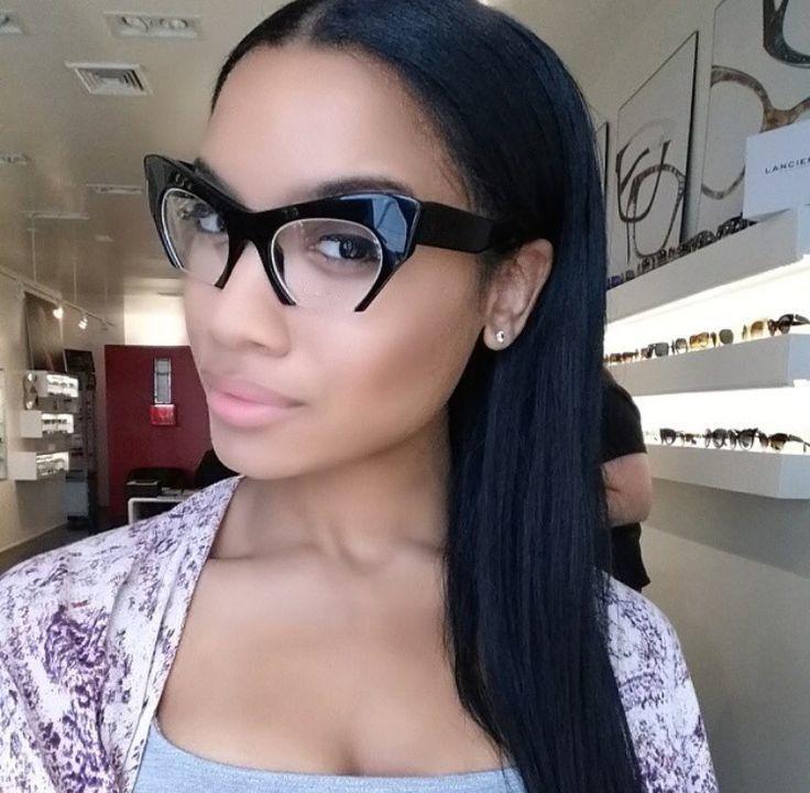 Eyeglasses Cut Off Frame Rasoir Sliced Cat Eye Clear Lenses Women Eyewear Black in Clothing, Shoes & Accessories, Women's Accessories, Sunglasses & Fashion Eyewear | eBay