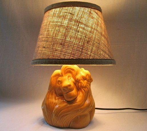 Vintage Disney Lamp Lion King Mufasa & Simba African Theme ...